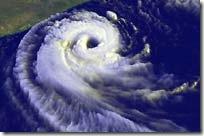 O furacão Catarina visto do espaço (foto: Nasa/GSFC)