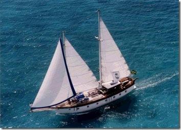 Horizonte velejando em Bonaire