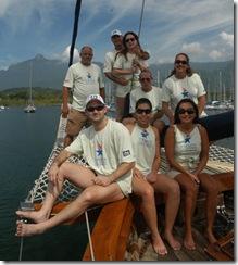 A tripulação do Horizonte na regata Ilha de Caras- Foto © Hélio Viana