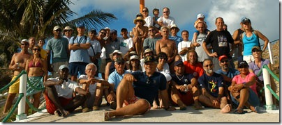 Participantes do Costa Leste 2006 em Abrolhos - Foto © Hélio Viana