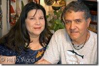 Eneida e Marcal no Rapunzel - Foto © Hélio Viana