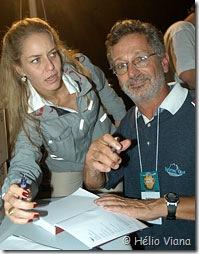 Osvaldo e Luciana no Rio Boat Show