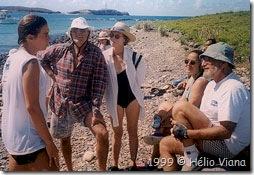 Mia e a palestra na Ilha da Siriba - Foto © Hélio Viana