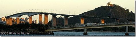 A 3ª Ponte vista do Iate Clube - Foto © Hélio Viana