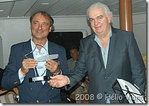 Joao do Boumerang e o presidente da Pado - Foto © Hélio Viana