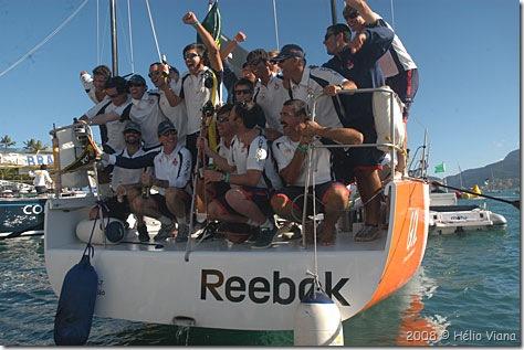 Tripulação vencedora Mitsubishi - o Campeao da ORC 500 - Foto © Hélio Viana
