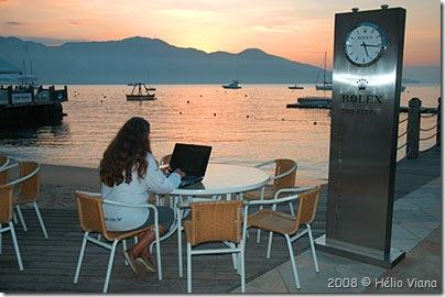 Mara no escritório - Foto © Hélio Viana