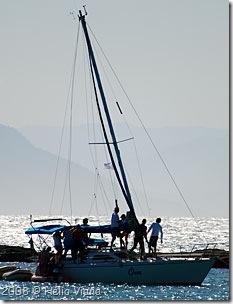 Om quase perde o mastro - Foto © Hélio Viana