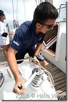 Alexei se esforça na catraca do enrrolador - Foto © Hélio Viana