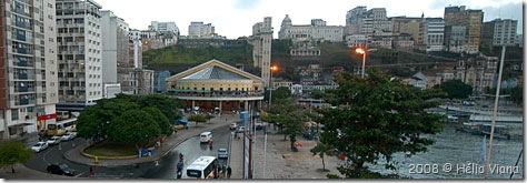 O Mercado Modelo visto do Terminal Náutico da Bahia- Foto © Hélio Viana