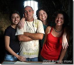 A familia Chelone no restaurante Del Popolo - Foto © Hélio Viana