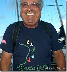 Zanella, o comodoro do Cruzeiro Costa Sul - Foto © Hélio Viana