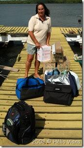Mara e sua pequena bagagem - Foto © Hélio Viana
