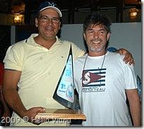 Marcelo e Chico com a Fita Azul - Foto © Hélio Viana