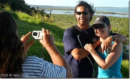 Mara fotografa Jorge e Aline em Santo André - Foto © Hélio Viana