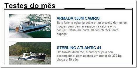 Teste do mes da Nautica Online