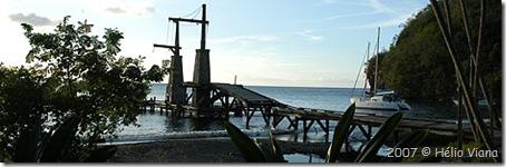 O pier em Wallilabou - Foto © Hélio Viana