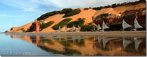 Ponta Grossa e suas jangadas- Foto © Hélio Viana