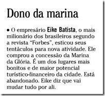 Fac simile da coluna Gente Boa do Globo