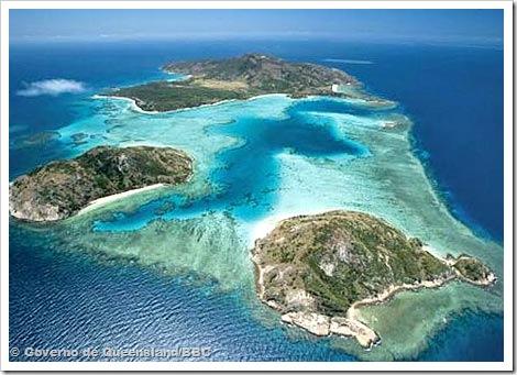Ilha de Hamilton © Governo de Queensland/BBC