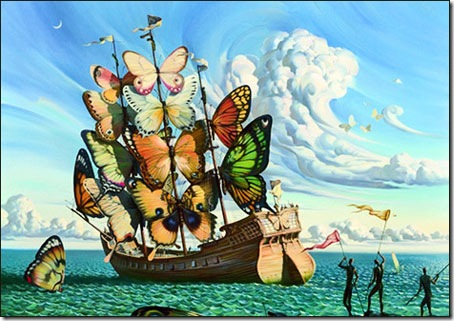 Departure of the Winged Ship © Vladimir Kush