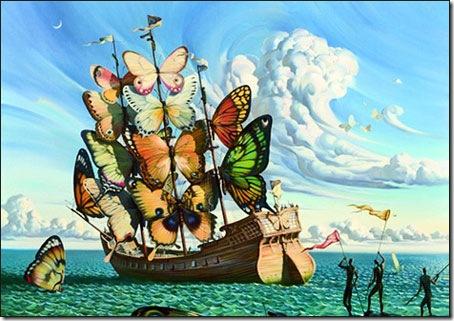 Departure of the Winged Ship © Vladimir Kush