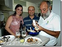 Gy, Pratts e Hélio se empanturram de ostras - Foto © Mara Blumer