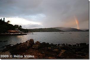 Ponta do Sambaqui olhando para o sul - Foto © Hélio Viana