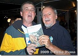 O novo autor Ricardo e o sortudo Fernando - Foto © Hélio Viana