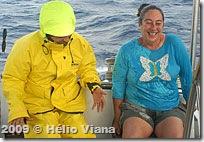 Mara e Lygia também se molharam - Foto © Hélio Viana
