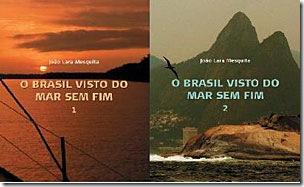 Capas dos livros O Brasil Visto do Mar Sem Fim