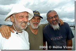 Oleg, Aleixo e Bereco na Ilha de Maré - Foto © Hélio Viana