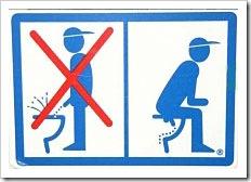 Proibido xixi em pé