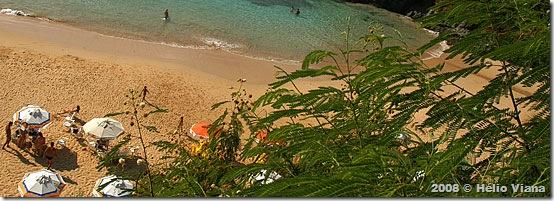 Praia do Cachorro vista do bar - Foto © Hélio Viana