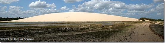 O Morro branco de Tatajuba é uma duna fixa
