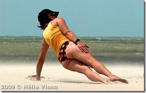 Exercício na praia