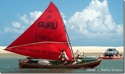 A canoa a vela em Guriu