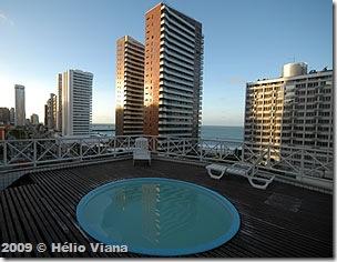 Vista do hotel em Fortaleza