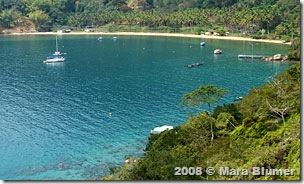 Praia da Tapera, na enseada de Sítio Forte, na ilha Grande