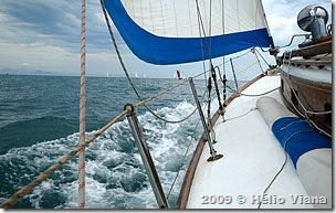 O Aventura na orça da primeira regata no sábado