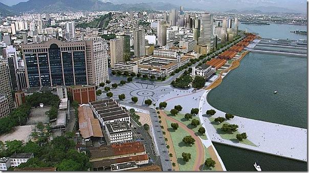 Praça Mauá após revitalização - Fotomontagem IPP