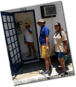 O telefone da ilha é por satélite