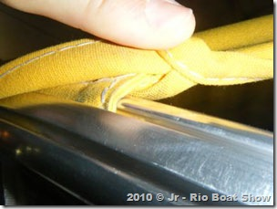 Detalhe do tubo com trilho da Bailly
