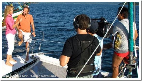 Equipe  do Globo Mar em Angra
