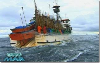 O Skipper II rumo à Bacia de Campos