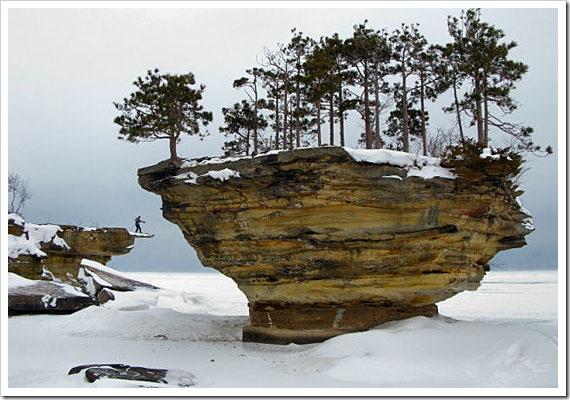 A ilha no inverno