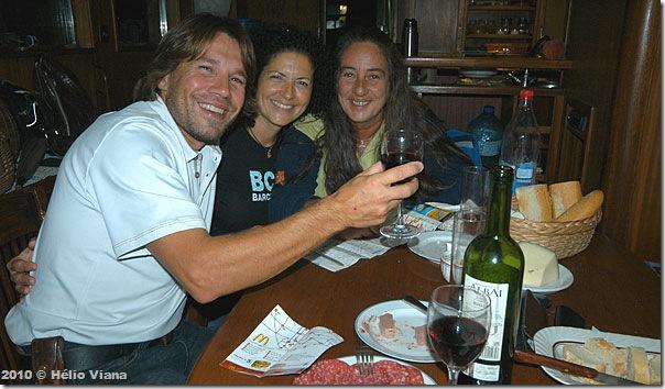Teclo, Cyça e Mara no Ferrara