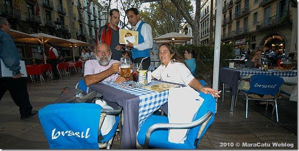 Bar Brasil em La Rambla de Barcelona
