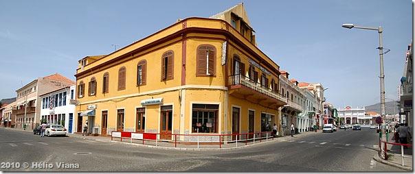 Cidade do Mindelo em Cabo Verde