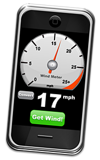 Wind Meter no iPhone da Apple